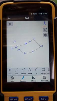 2D CAD nézet és eszköztár