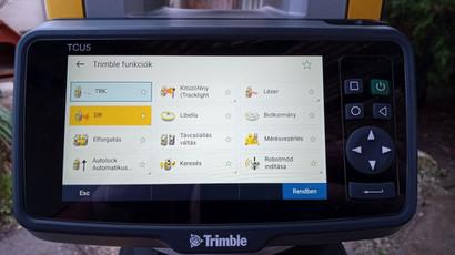 Trimble funkciók a képernyőn