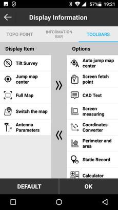 SurvX konfigurálható eszköztár
