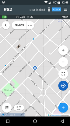 Open Street Map, a kijelzőn (Reach View)