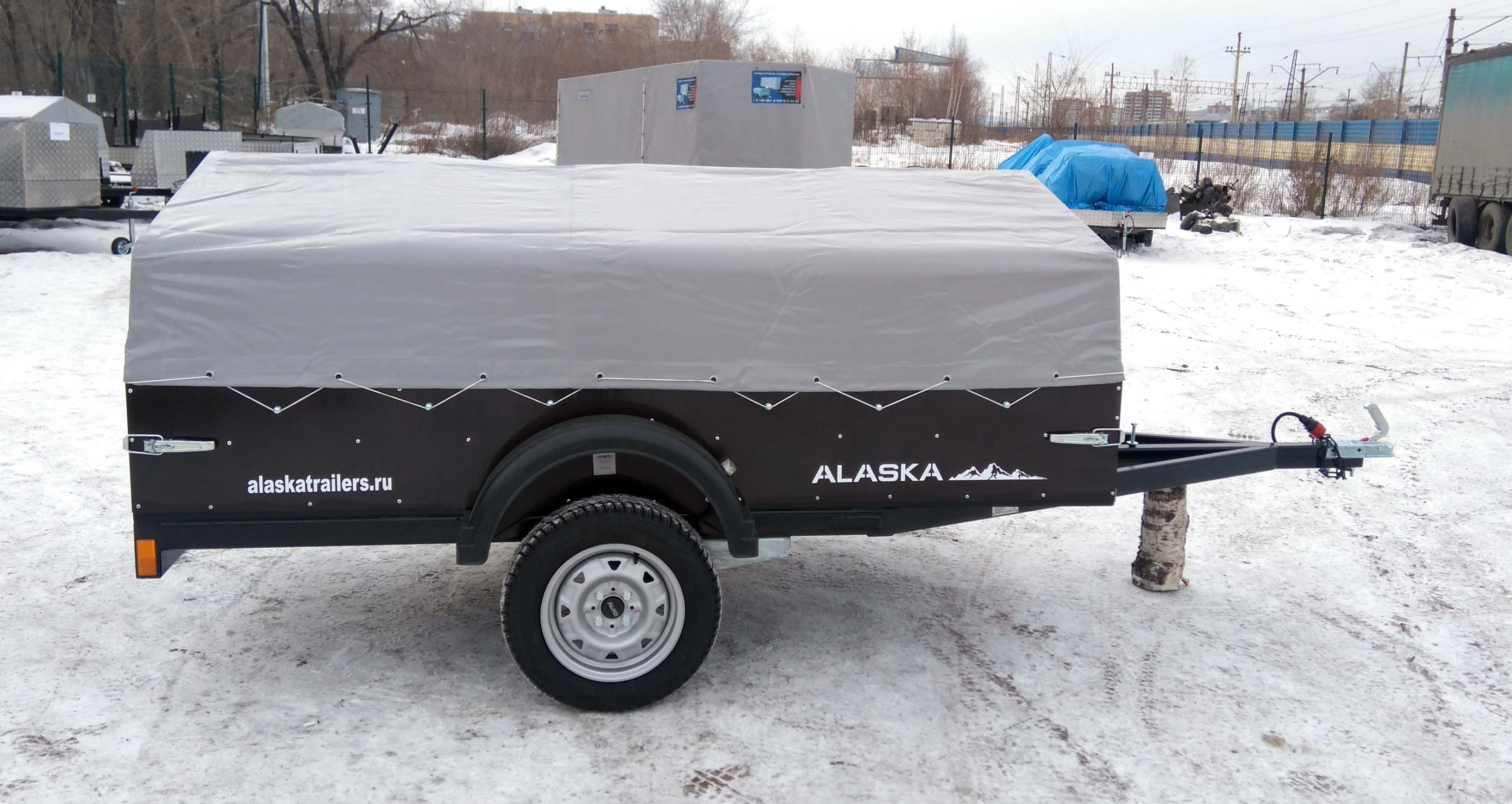 Прицеп Аляска Фермер, фанерный борт