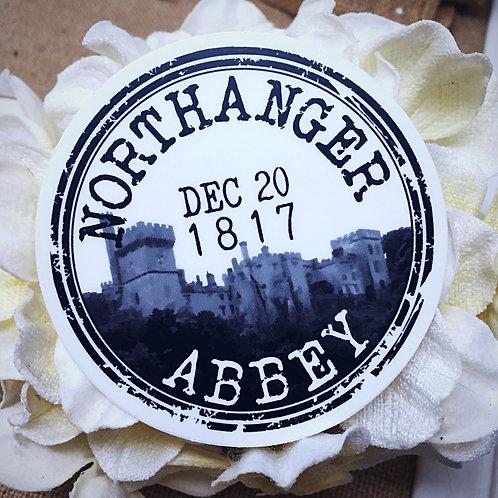 Northanger Abbey Cancelled Postal Stamp Sticker from Jane Austen