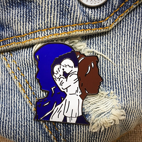 Lizzy and Darcy Pride and Prejudice United Hard Enamel Pin - Jane Austen