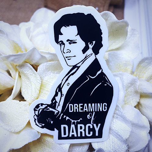 Dreaming of Darcy Sticker - from Jane Austen's Pride and Prejudice