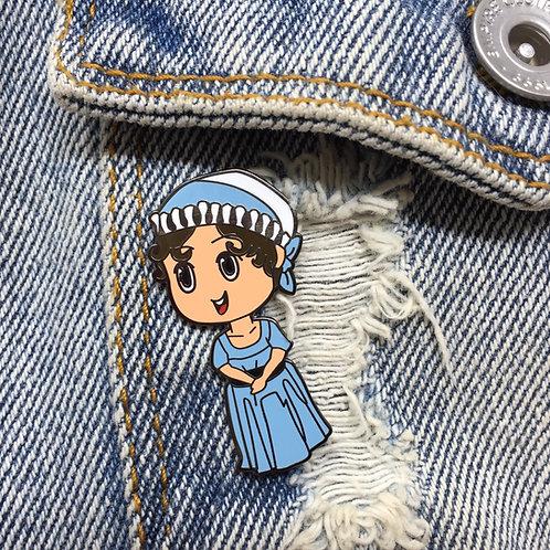 Jane Austen Hard Enamel Pin - Pembertea Exclusive