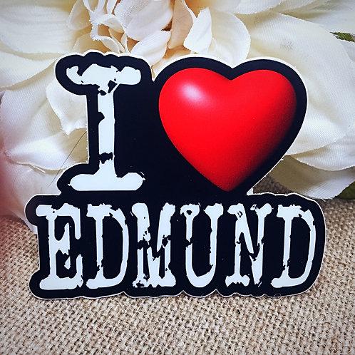 I Love Edmund Sticker - Edmund Bertram from Jane Austen's Mansfield Park