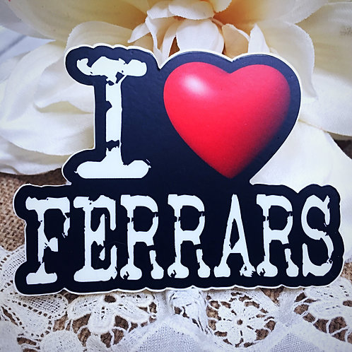 I Love Ferrars Sticker - Edward Ferrars from Jane Austen's Sense & Sensibility