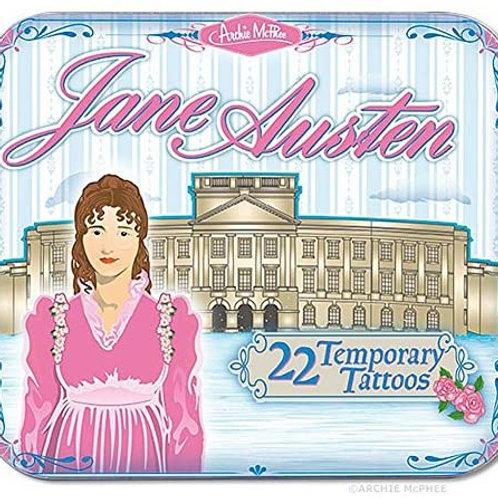 Jane Austen Temporary Tattoos