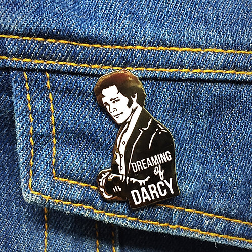 Dreaming of Darcy Hard Enamel Pin - Jane Austen and Pride and Prejudice