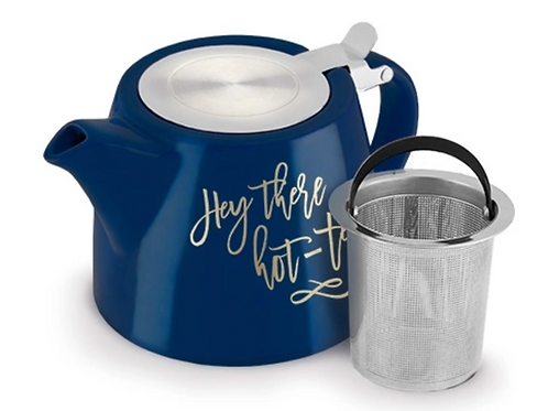 """""""Hey There Hot-Tea"""" Harper Teapot and Infuser - by Pinky Up®"""