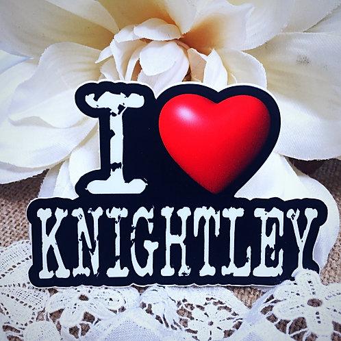 I Love Knightley Sticker - from Jane Austen's Emma