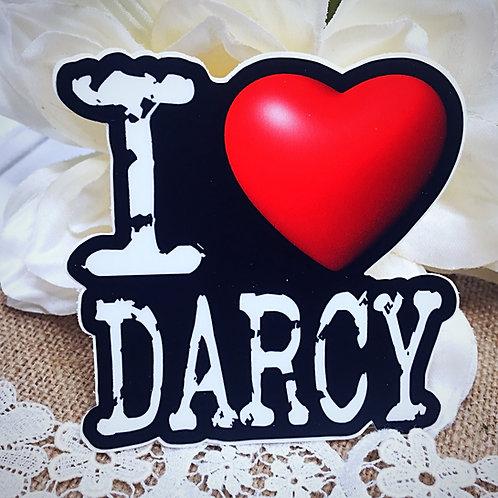 I Love Darcy Sticker - Mr Darcy from Jane Austen's Pride and Preju