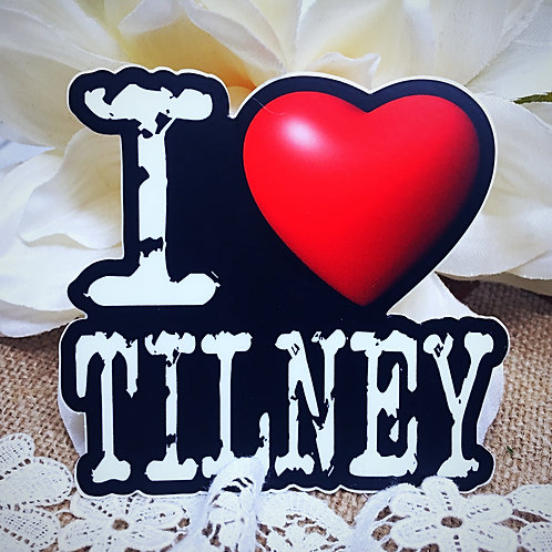 I Love Tilney Sticker from Jane Austen's Northanger Abbey