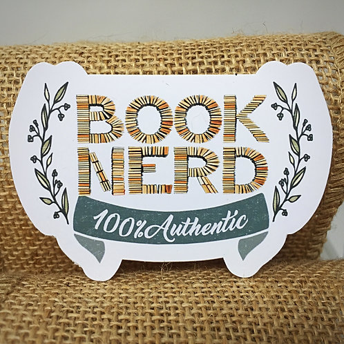 Book Nerd Sticker - Perfect gift for the book lover