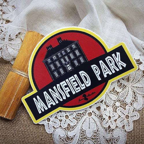 Mansfield Park Die Sticker from Jane Austen's novel
