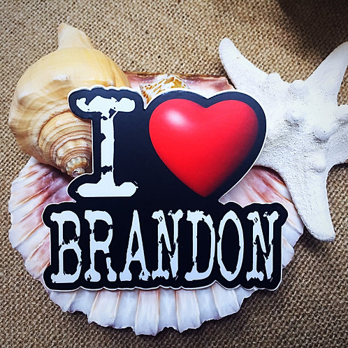 I Love Brandon Sticker - Colonel Brandon from Jane Austen's Sense & Sensibility