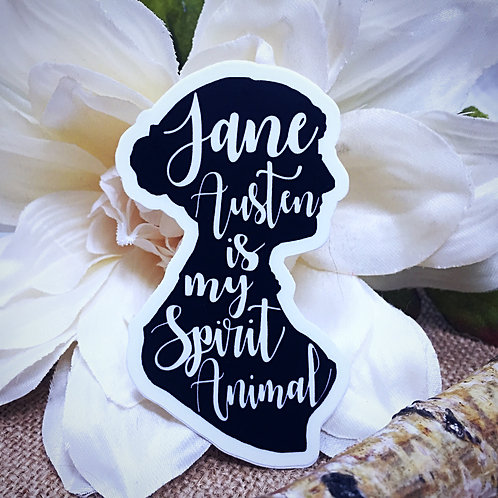 Jane Austen is my Spirit Animal Sticker