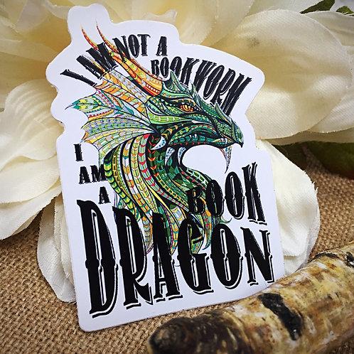 I'm Not A Bookworm, I'm A Book Dragon Sticker