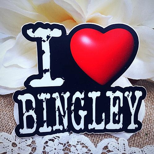 I Love Bingley Sticker - from Jane Austen's Pride and Prejudice