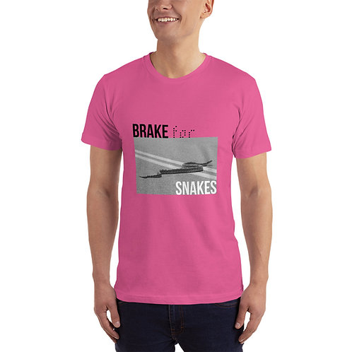 Brake for Snakes 100% Cotton T-Shirt