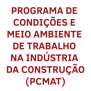 O PCMAT deve ser realizado pelas empresas que estão enquadradas no grupo das indústrias de construção e que possuam 20 trabalhadores ou mais. Esta Norma Regulamentadora, estabelece a implantação do Programa de Condições e Meio Ambiente de Trabalho na Construção Civil, contemplado as exigências contidas na Norma Regulamentadora – NR 9 – PPRA. A elaboração do PCMAT se dá pela antecipação dos riscos inerentes à atividade da construção civil e deve garantir, por ações preventivas, a integridade física e a saúde do trabalhador da construção civil, funcionários terceirizados, fornecedores e contratantes.