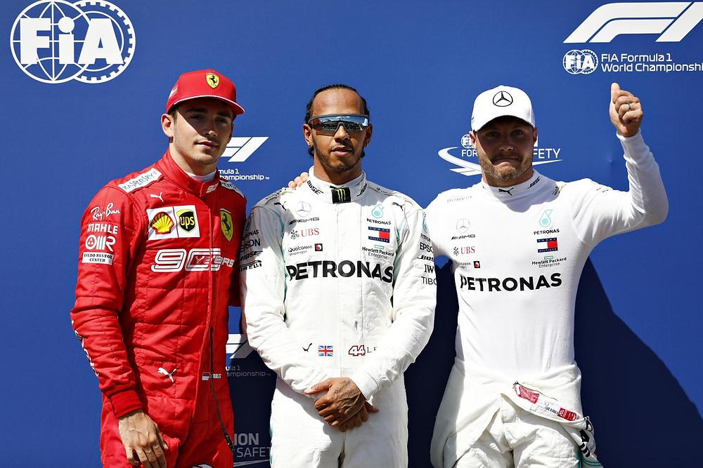 Hamilton Bottas y Leclerc completan el podio