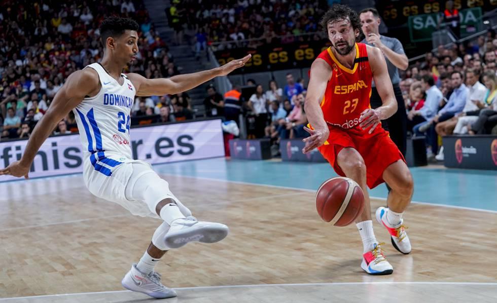 Selección Baloncesto española y Selección dominicana de baloncesto
