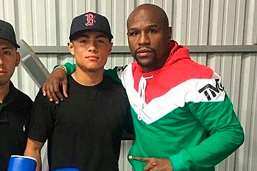 Danny González y Floyd Mayweather