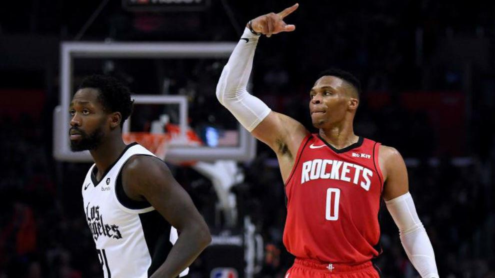 Este jueves Russell Westbrook lideró en una noche de ensueño a los Rockets con 40 puntos