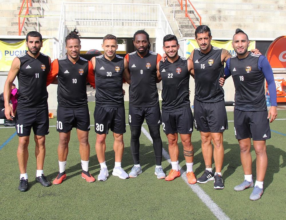 Iván Pérez,Charles Herold,Jr, PAblo Marisi, Paulson Pierre, Matias Rotondi, Alan Aciar y Diego Avila.
