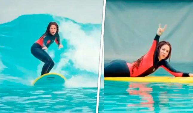 La mujer de Gerard Piqué ha deslumbrado este verano con sus increíbles piruetas sobre las olas