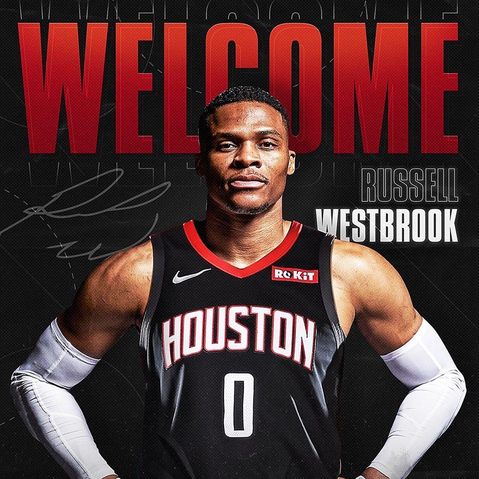 Los Houston Rockets hicieron oficial la adquisición de Russell Westbrook. Fuente @HoustonRockets