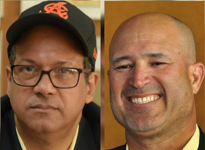 Adriano Valdez Russo y Manny Acta