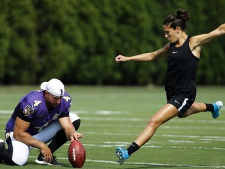 Carli Lloyd tiene ofertas: podría hacer historia en la NFL luego de Gol de Campo de 55 yrd. Míralo.