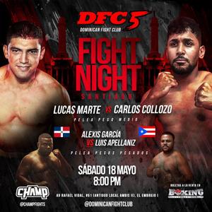Cartel promocional de la cartelera de MMA que será celebrada el 18 de mayo en el Boxing Factory Gym