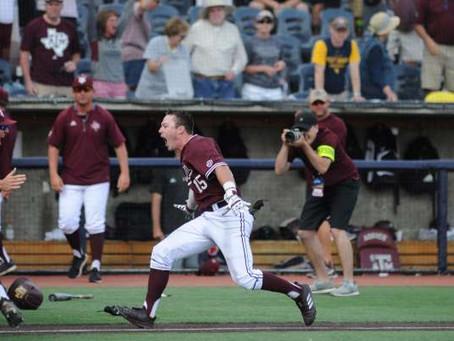Pelotero universitario conecta el jonrón que todo beisbolista sueña