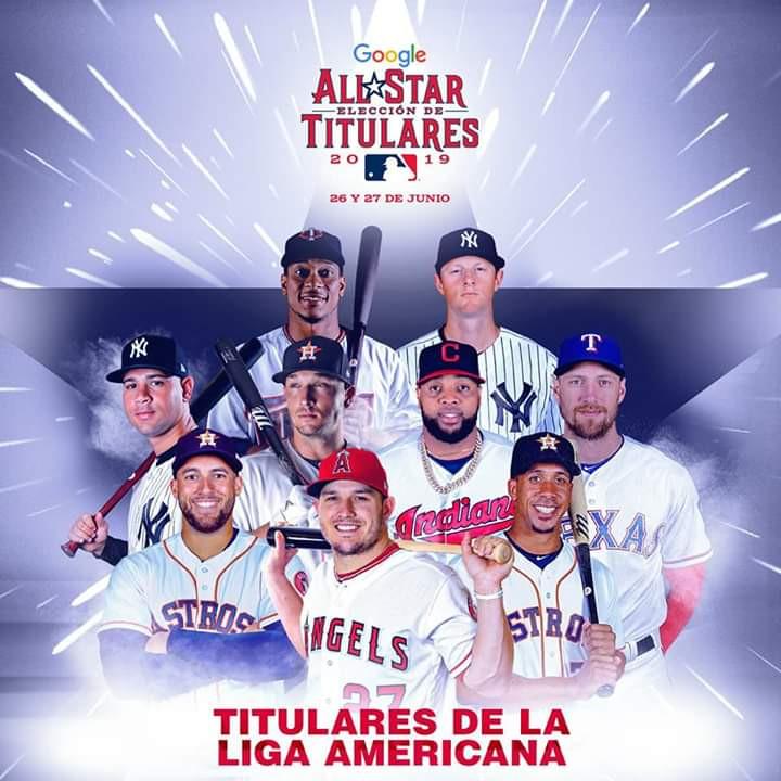 En la Liga Americana los dominicanos que estarán cómo titulares  Gary Sánchez, Jorge Polanco y Carlos Santana.