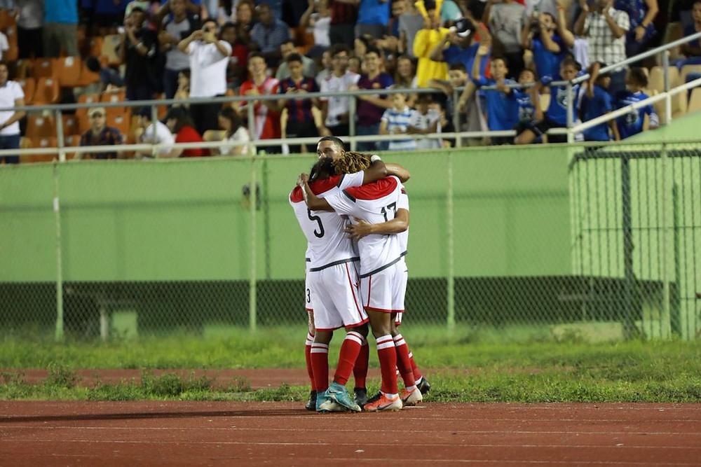 El seleccionado absoluto de República Dominicana cayó un gol por cero ante Santa Lucía