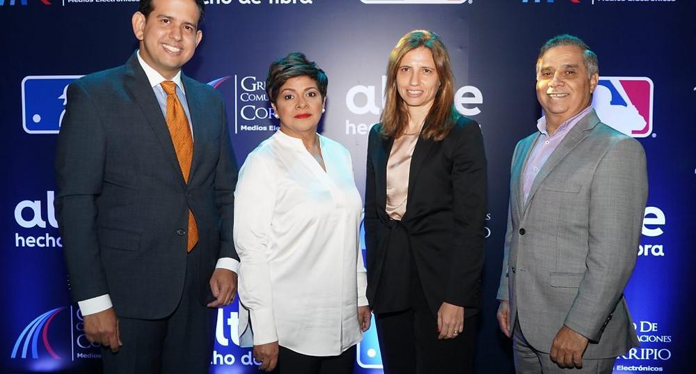 De izquierda a derecha, Dorian Rodriguez, Soraida Soto, Ana Figuereido y Valentín Báez.