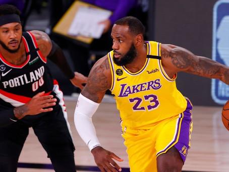 Los Lakers no dan opción a Portland y ponen el 1-1 en la serie