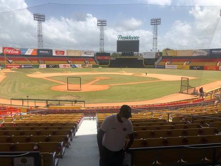 El Estadio Cibao, con tierra tiene
