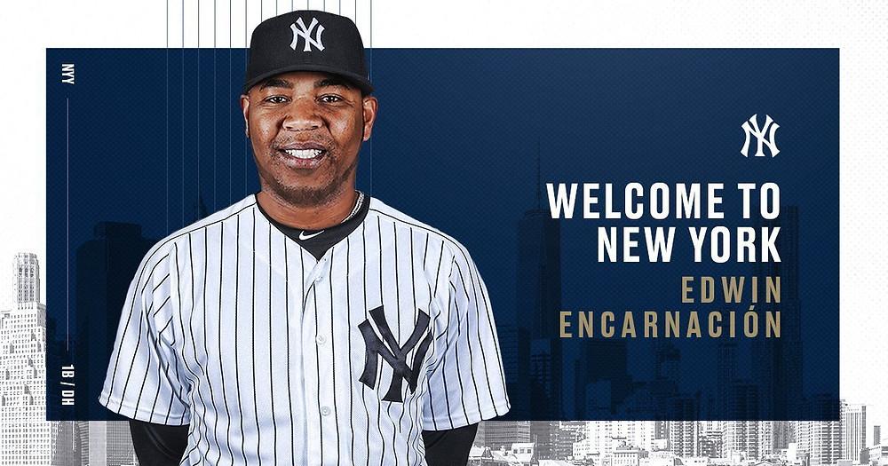 Encarnación llega a los Yankees con un extenso currículum como uno de los mejores cañoneros del béisbol