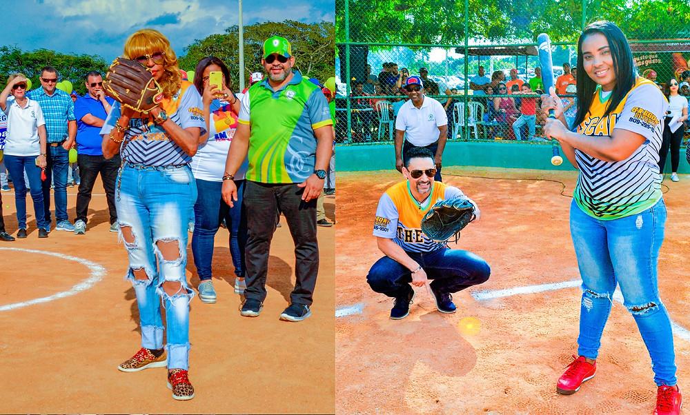 Fefita la Grande, realiza el lance de honor, que recibe el mambólogo Robert Liriano y batea la fiscal de Santiago para asuntos de la mujer, licenciada Cristina Ramírez, el árbitro honorífico es, Manuel Valdez.