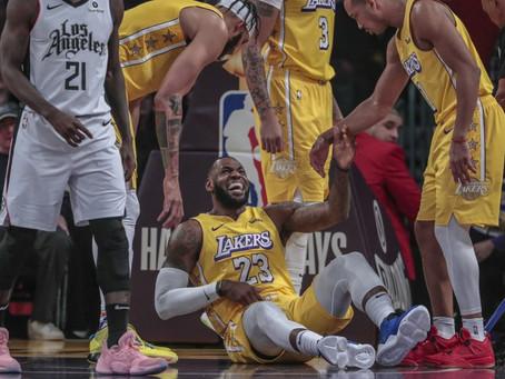 LeBron James confirma que recayó de la lesión de la ingle y tendrá que descansar.