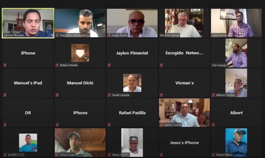 En el Webinar participaron integrantes del personal de operaciones de béisbol de las seis franquicias de Lidom, periodistas y fanáticos