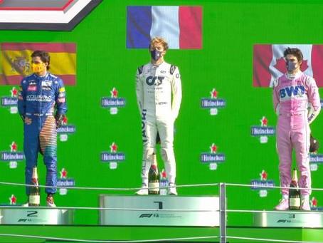 Pierre Gasly sorprende al mundo y se queda con el GP de Italia; Hamilton es septimo.