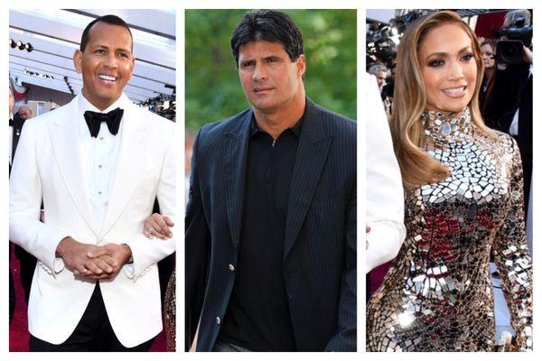 Alex Rodriguez, Jose Canseco y Jennifer Lopez