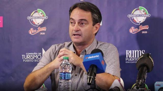 Jorge Bauzá, director del torneo y supervisor de árbitros de la Confederación de Beisbol Profesional del Caribe (CBPC)