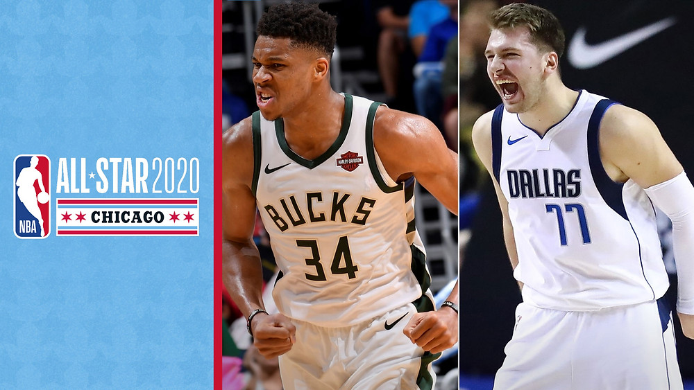 Luka Doncic y Giannis Antetokounmpo