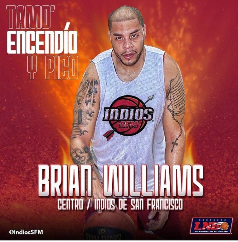 Indios de San Francisco anunciaron la contratación del jugador importado Brian Williams